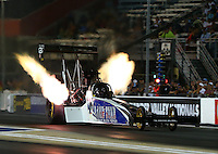 Jun 17, 2016; Bristol, TN, USA; NHRA top fuel driver Terry Haddock during qualifying for the Thunder Valley Nationals at Bristol Dragway. Mandatory Credit: Mark J. Rebilas-USA TODAY Sports