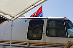 POW MIA flag on an RV. Vietnam Veterans gather in Kokomo, Indiana for the 2009 reunion.