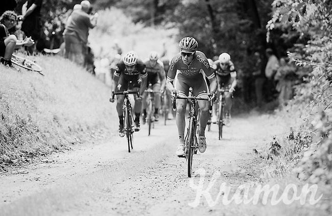 racing over gravel roads<br /> <br /> 1st Dwars door het Hageland 2016<br /> (pics by Léon Van Bon)