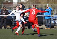 Nils Beisser (Büttelborn) gegen Orhan Paz und Ahmed Bakel (Unter-Flockenbach) - 25.02.2018: SKV Büttelborn vs. SV Unter-Flockenbach, Gruppenliga Darmstadt