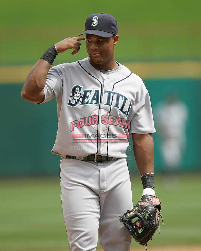 Seattle Mariners 3B Adrian Beltre against the Texas Rangers on May 14th, 2008 at Texas Rangers Ball Park. Photo by Andrew Woolley / Four Seam Images.