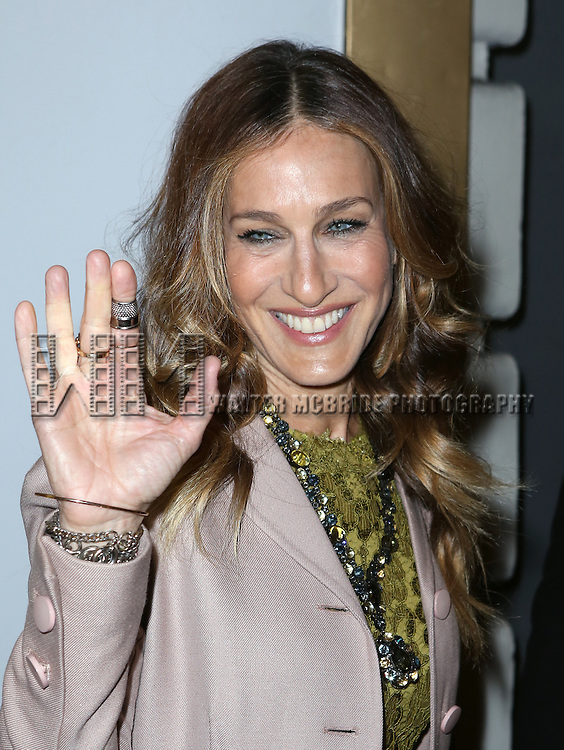 Sarah Jessica Parker attends the Re-Opening Night of 'It's Only A Play'  at the Bernard B. Jacobs Theatre on January 23, 2014 in New York City.