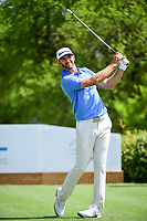 Dustin Johnson (USA) watches his tee shot on 17 during round 6 of the World Golf Championships, Dell Technologies Match Play, Austin Country Club, Austin, Texas, USA. 3/26/2017.<br /> Picture: Golffile | Ken Murray<br /> <br /> <br /> All photo usage must carry mandatory copyright credit (&copy; Golffile | Ken Murray)