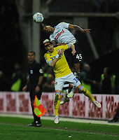 Preston North End's Lukas Nmecha under pressure from Leeds United's Ezgjan&nbsp;Alioski<br /> <br /> Photographer Kevin Barnes/CameraSport<br /> <br /> The EFL Sky Bet Championship - Preston North End v Leeds United -Tuesday 9th April 2019 - Deepdale Stadium - Preston<br /> <br /> World Copyright &copy; 2019 CameraSport. All rights reserved. 43 Linden Ave. Countesthorpe. Leicester. England. LE8 5PG - Tel: +44 (0) 116 277 4147 - admin@camerasport.com - www.camerasport.com