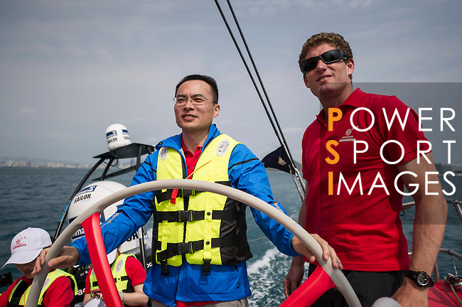 Guests enjoy Sailing Experience after the Dongfeng Race Team Official Launch Ceremony & Christening ahead the 2014/15 Volvo Ocean Race on February 26, 2014 in Sanya, China. Photo by Victor Fraile / Power Sport Images