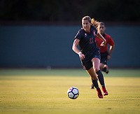 STANFORD, CA - August 10, 2018: Jordan DiBiasi at Laird Q. Cagan Stadium. The Stanford Cardinal defeated the Fresno State Bulldogs 4-0.