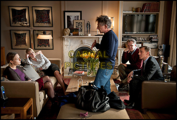 Jodie Foster & Kate Winslet, Roman Polanski (Director), John C. Reilly & Christoph Waltz.on the set of Carnage.*Filmstill - Editorial Use Only*.CAP/PLF.Supplied by Capital Pictures.