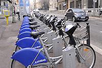 - Marsiglia, stazione di bike sharing<br /> <br /> - Marseille, bike sharing station