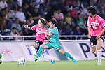(L-R) <br /> Yuka Anzai (Jef Ladies), <br /> Yuka Momiki (Beleza), <br /> SEPTEMBER 3, 2016 - Football / Soccer : <br /> Plenus Nadeshiko League Cup 2016 Division 1 Final match <br /> between NTV Beleza 4-0 Jef Chiba Ladies <br /> at Ajinomoto Field Nishigaoka in Tokyo, Japan. <br /> (Photo by AFLO SPORT)