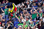 Zalgiris' supporters during Euroligue match between Real Madrid and Zalgiris Kaunas at Wizink Center in Madrid, Spain. April 4, 2019.  (ALTERPHOTOS/Alconada)