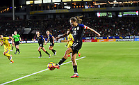Carson, CA - November 13, 2016: The U.S. Women's National team take a 4-0 lead over Romania in an international friendly game at StubHub Center.