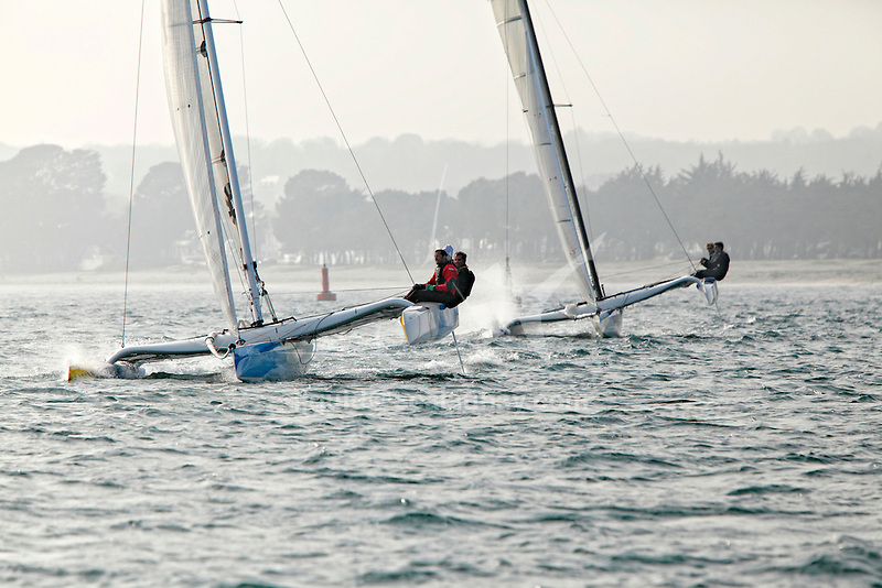 Diam 24 One Design, light, sporty, powerful, winged and designed to race with three or four people on board. The Diam 24OD is fast in light winds and confident in stronger breeze without the necessity for high level sporting prowess. The Diam 24 the new boat for the Tour de France à la Voile 2015.