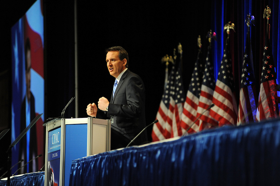 Minnesota Gov. Tim Pawlenty addresses the crowd at the 37th Annual Conservative Political Action Conference held at Marriott Wardman Park Hotel in Washington DC on Friday, Feb. 19, 2009. (Amanda Lucidon)