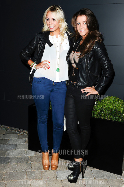 Sascha Parkinson and Brooke Vincent arrives for the Malmaison Hotel Liverpool re-opening party...23/09/2011  Picture by Steve Vas/Featureflash