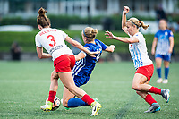 Boston, MA - Friday July 07, 2017: Arin Gilliland, Natasha Dowie and Alyssa Mautz during a regular season National Women's Soccer League (NWSL) match between the Boston Breakers and the Chicago Red Stars at Jordan Field.