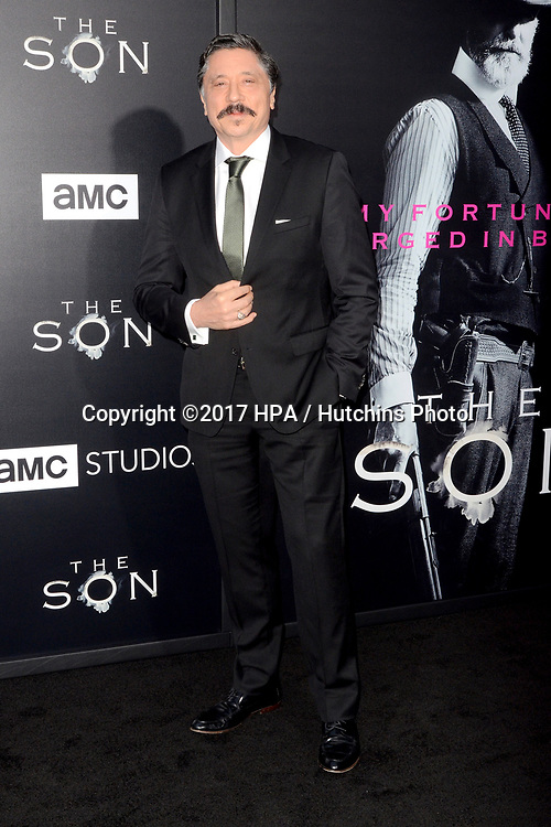 """LOS ANGELES - APR 3:  Carlos Bardem at the AMC's """"The Son"""" Season One LA Premiere at ArcLight Theater on April 3, 2017 in Los Angeles, CA"""