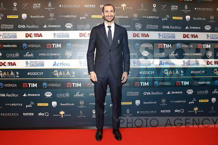 Giorgio Chiellini of Juventus pictured at the The Italian Footballers Association Grand Gala of Football at the Megawatt Court, Milan. Picture date: 2nd December 2019. Picture credit should read: Jonathan Moscrop/Sportimage