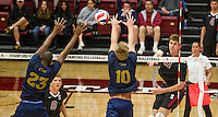 STANFORD, CA - April 4, 2014: Stanford Cardinal's Daniel Tublin, during Stanford's 3-0 victory over Cal Baptist at Maples Pavilion.
