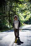 CATSKILLS, NY - September 25:  Cornell hiking in the Catskills