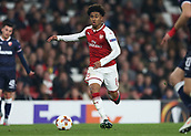 2nd November 2017, Emirates Stadium, London, England; UEFA Europa League group stage, Arsenal versus Red Star Belgrade; Reiss Nelson of Arsenal in action