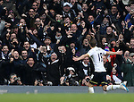 Tottenham's Harry Kane celebrates scoring his sides opening goal<br /> <br /> Barclays Premier League- Tottenham Hotspurs vs Arsenal  - White Hart Lane - England - 7th February 2015 - Picture David Klein/Sportimage