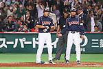 (L to R) .Hirokazu Ibata (JPN), . Koichi Ogata (JPN), .MARCH 6, 2013 - WBC : .2013 World Baseball Classic .1st Round Pool A .between Japan 3-6 Cuba .at Yafuoku Dome, Fukuoka, Japan. .(Photo by YUTAKA/AFLO SPORT) [1040]