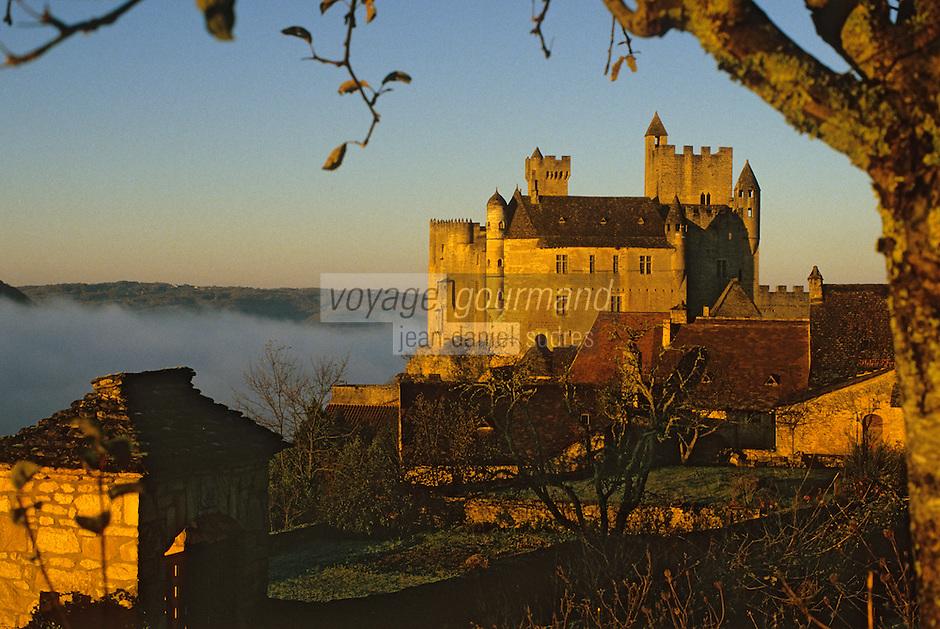Europe/France/Aquitaine/24/Dordogne/Vallée de la Dordogne/Périgord/Périgord noir/Beynac-et-Cazenac: Le Château de Beynac