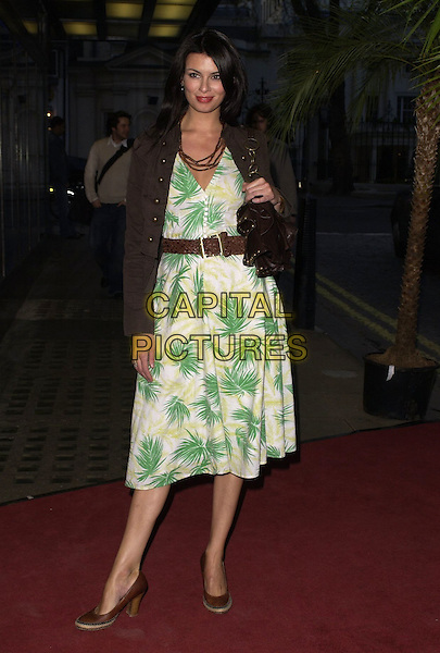 GUEST.At the CobraVision Film Awards, Curzon Mayfair, .London, England, April 24th 2006..fiull length green and white patterned print dress.Ref: CAN.www.capitalpictures.com.sales@capitalpictures.com.©Can Nguyen/Capital Pictures