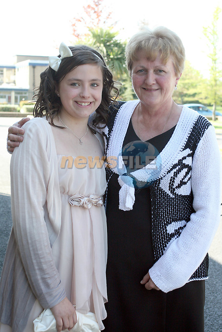 Rebecca Mooney and Margaret Leech at the Confirmation in Holy Family Church Ballsgrove...Photo NEWSFILE/Jenny Matthews.(Photo credit should read Jenny Matthews/NEWSFILE)....This Picture has been sent you under the condtions enclosed by:.Newsfile Ltd..The Studio,.Millmount Abbey,.Drogheda,.Co Meath..Ireland..Tel: +353(0)41-9871240.Fax: +353(0)41-9871260.GSM: +353(0)86-2500958.email: pictures@newsfile.ie.www.newsfile.ie.FTP: 193.120.102.198.