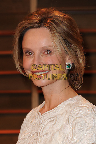 WEST HOLLYWOOD, CA - MARCH 2: Calista Flockhart arrives at the 2014 Vanity Fair Oscar Party in West Hollywood, California on March 2, 2014.  <br /> CAP/MPI/MPI213<br /> &copy;MPI213/MediaPunch/Capital Pictures