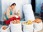 Vegetables seller, Siyoh Bazar, Samarkand