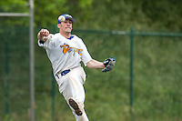 23 May 2009: Matthieu Brelle Andrade of Senart throws the ball to first base during the 2009 Challenge de France, a tournament with the best French baseball teams - all eight elite league clubs - to determine a spot in the European Cup next year, at Montpellier, France. Savigny wins 4-1 over Senart.