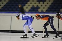 SCHAATSEN: HEERENVEEN: 02-10-2014, IJsstadion Thialf, Topsporttraining, ©foto Martin de Jong