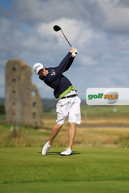 Stuart Grehan (Tullamore) on the 13th tee during the South of Ireland Amateur Open Championship 4th Round at Lahinch Golf Club  29th July 2013 <br /> Picture:  Thos Caffrey / www.golffile.ie