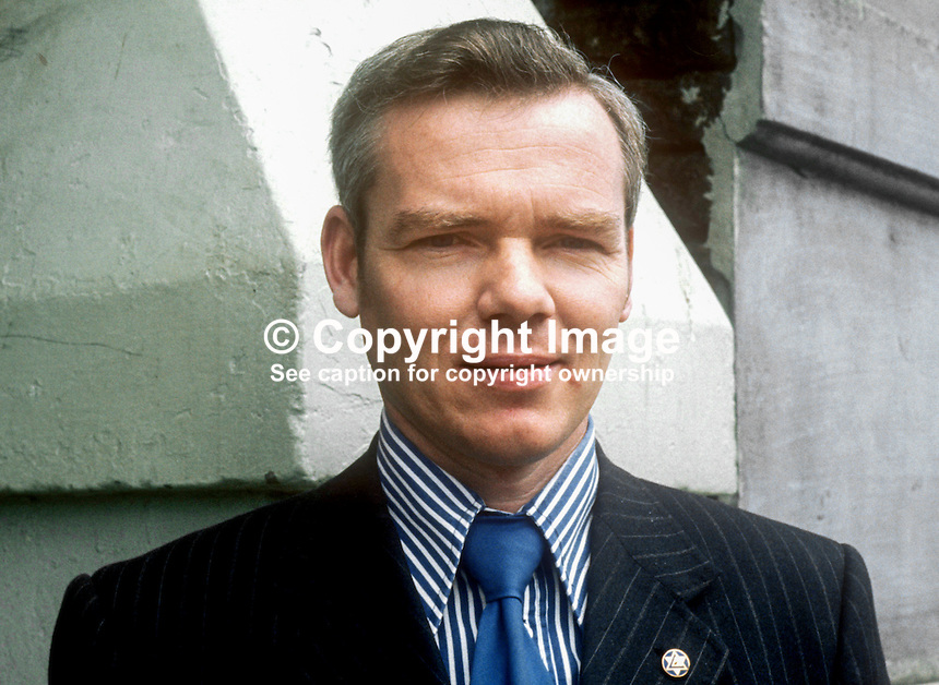 Jim McCammick, candidate, VUUP, Armagh, N Ireland Assembly Election, June, 1973, 197306000468a<br /> <br /> Copyright Image from Victor Patterson, 54 Dorchester Park, Belfast, UK, BT9 6RJ<br /> <br /> t1: +44 28 9066 1296 (from Rep of Ireland 048 9066 1296)<br /> t2: +44 28 9002 2446 (from Rep of Ireland 048 9002 2446)<br /> m: +44 7802 353836<br /> <br /> e1: victorpatterson@me.com<br /> e2: victorpatterson@gmail.com<br /> <br /> The use of my copyright images is subject to my Terms &amp; Conditions.<br /> <br /> It is IMPORTANT that you familiarise yourself with them. They are available on my website at www.victorpatterson.com.<br /> <br /> None of my copyright images may be used on a website unless they are visibly watermarked, i.e. &copy; Victor Patterson within the body of the visible image. Metadata denoting my copyright must NOT be deleted. <br /> <br /> Web use is extra at currently recommended NUJ rates.