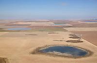 Playas aerial view; Texas, high plains; winter;