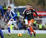 Paul Coutts of Sheffield Utd Paul Coutts of Sheffield Utd surges forward during the English League One match at the Proact Stadium, Chesterfield. Picture date: November 13th, 2016. Pic Simon Bellis/Sportimage