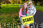 Roisin and Susan Sugrue from Ballyseedy attending the 100th Junior Park Run in the Tralee town park on Sunday.