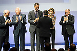"The kings of Spain make delivery of accreditation to the new ambassadors fees ""Marca España"" in his 6th edition to Joan Roca at BBVA City in Madrid, November 12, 2015.<br /> (ALTERPHOTOS/BorjaB.Hojas)"