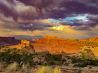Sunset clouds at the Neck, Canyonlands National Park, Utah
