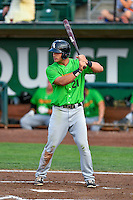 Aaron Schnurbusch (21) of the Great Falls Voyagers at bat against the Ogden Raptors in Pioneer League action at Lindquist Field on August 18, 2016 in Ogden, Utah. Ogden defeated Great Falls 10-6. (Stephen Smith/Four Seam Images)