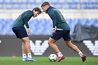Federico Chiesa and Ciro Immobile <br /> Roma 11-10-2019 Stadio Olimpico <br /> European Qualifiers Qualifying round <br /> Italy - Greece day -1 training<br /> Photo Andrea Staccioli/Insidefoto