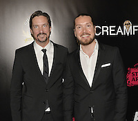 HOLLYWOOD,CA - OCTOBER 18: Aleksi Hyvarinen and Taneli Mustonen attend the TRASH FIRE / Screamfest red carpet at TCL Chinese Theater in Hollywood, California on October 18, 2016. Credit: Koi Sojer/Snap'N U Photos /MediaPunch