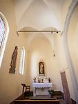 Altar, Church of the Madonna dei Lumi, San Gimignano, Siena-Tuscano, Italy