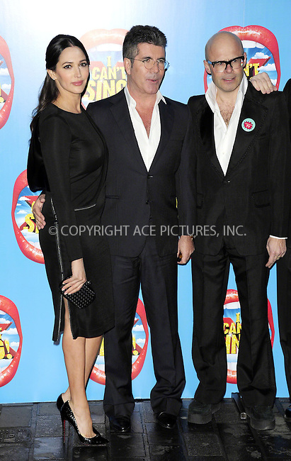 WWW.ACEPIXS.COM<br /> <br /> March 26 2014, London<br /> <br /> Lauren Silverman, Simon Cowell and Harry Hill at the press night of 'I Can't Sing! The X Factor Musical' at the London Palladium on March 26 2014 in London<br /> <br /> By Line: Famous/ACE Pictures<br /> <br /> <br /> ACE Pictures, Inc.<br /> tel: 646 769 0430<br /> Email: info@acepixs.com<br /> www.acepixs.com
