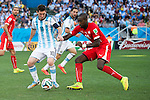 Lionel Messi (ARG), Johan Djourou (SUI), JULY 1, 2014 - Football / Soccer : FIFA World Cup Brazil 2014 Round of 16 match between Argentina 1-0 Switzerland at Arena de Sao Paulo in Sao Paulo, Brazil. (Photo by Maurizio Borsari/AFLO)
