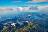 Laos. Mountains near Vang Vienna, Nam Ngum Reservoir (r.)