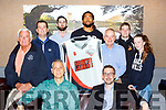 St Pauls members lauching Scotts Lakers who will compete in the National League this year front row l-r:  Vojkan Bencic coach, Adain Quirke, Back row: Christy Sheehan, Maurice O'Donoghue, Mark Greene, Antuan Bootle,Tom Looney, Philip O'Connor and Niamh O'Donoghue