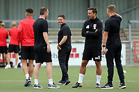 Leyton Orient Interim Head Coach Ross Embleton with his staff before Harlow Town vs Leyton Orient, Friendly Match Football at The Harlow Arena on 6th July 2019