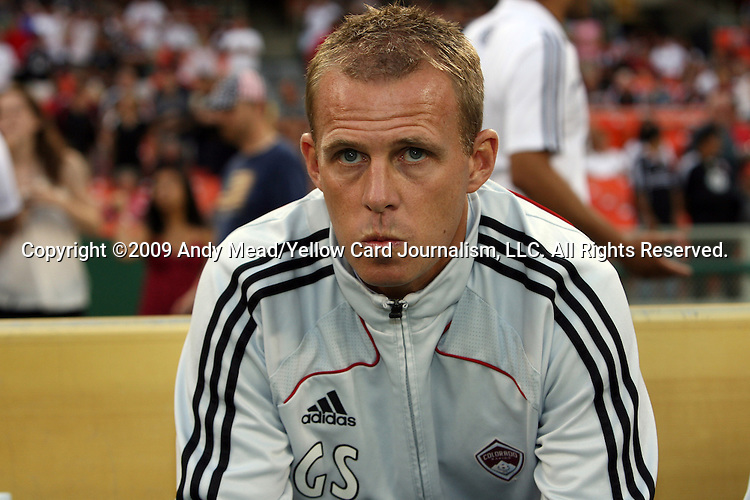18 July 2009: Colorado head coach Gary Smith. DC United defeated the Colorado Rapids 3-1 at RFK Stadium in Washington, DC in a regular season Major League Soccer game.